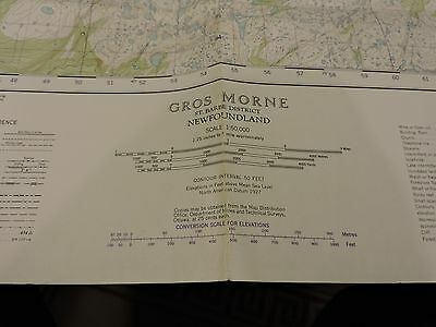 Gros Morne St Barbe District Newfoundland Folded Topographic Map 1st ed 57 MZ39