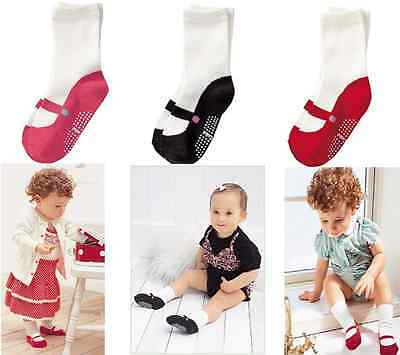 1Pair Newborn Baby Boys Girls Anti Slip Socks Infant 0-24 Months New