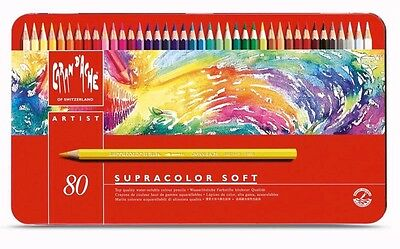 Caran D'ache Supracolor Watercolour Pencil 80 Colour Tin