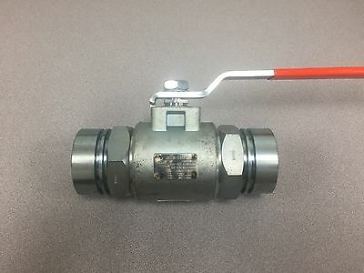 "2"" KF Ball Valve P/N 6108-142S1, CWP 3000, Stainless Steel, Socket Weld"