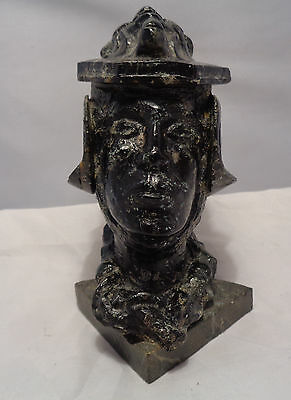 Strange Antique Russian Carved Serpentine Double Figurehead Of Soldier? Rare