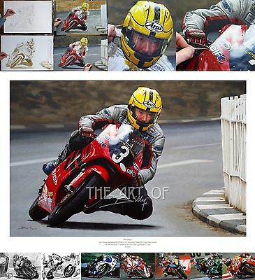 Joey Dunlop 2000 Honda RS125 Isle of Man TT oil painting fine art print