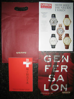 WEMPE Prospekt Material Lange & Söhne + PASSPORT TO SWISS MADE WATCHES Breguet