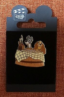 Disney Store Japan Lady and the Tramp (Spaghetti Dinner) Pin #1037 Free Shipping