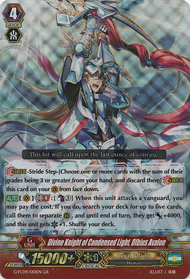 CARDFIGHT VANGUARD - Divine Knight of Condensed Light, Olbius Avalon - FC04/001