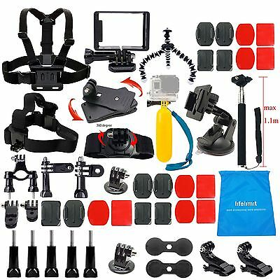 Black Outdoor Accesories Attachment Bundle Kit For GoPro Hero 5 Session 4 3 2 HD