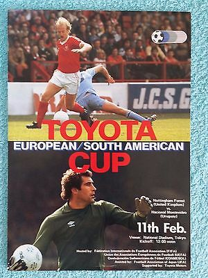 1980 - CLUB WORLD CUP FINAL PROGRAMME - NOTTS FOREST v NACIONAL - 4 PAGE EDITION