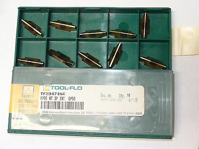10 new TOOL-FLO VP85 NT 3P INT GP50 Carbide Inserts TF23474N4