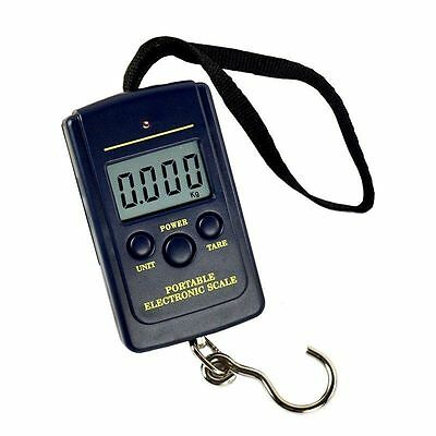 40kg 10g Electronic Hanging Fishing Luggage Pocket Digital Weight Scale Blue SU