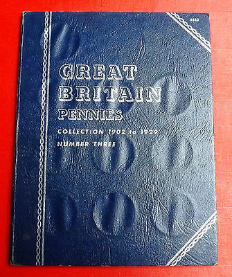 British  Whitman Folder  For Pennies With Many Coins 1902 To 1929