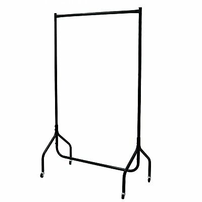 NEW 3ft Garment Clothes Rail Super Heavy Duty All Metal Black