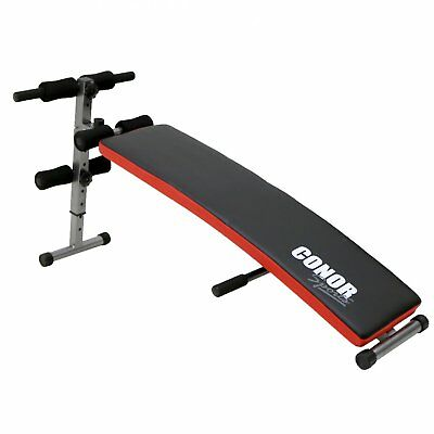 Conor Sports Folding Sit Up Ab Bench With Push Up Bar Home Gym Workout Exercise