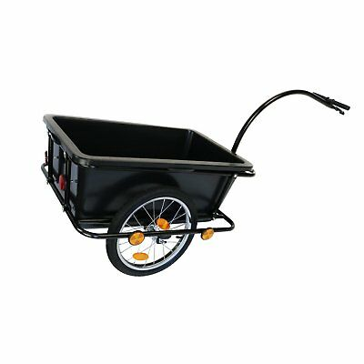 NEW! Bike Trailer Trolley with Coupling & Pneumatic Tyre 90L Cargo