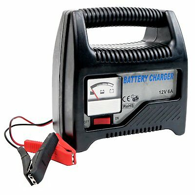 NEW! 6A 12V Compact Portable Car Van Vehicle Battery Charger Starter