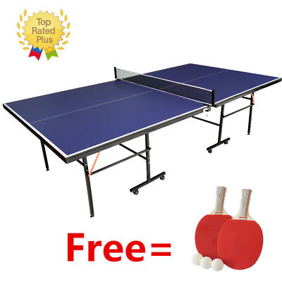 Panana Indoor Outdoor Table Tennis Ping Pong Table Blue Full Size Adjustable New