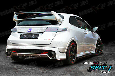 Aerokit R1 Rear bodykit bumper LIP for Honda Civic HB 05+TYPE R TYPE S