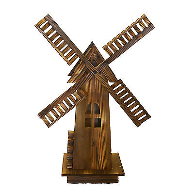 Wooden Dutch Windmill - Classic Old-fashioned Windmill For Garden, Patio