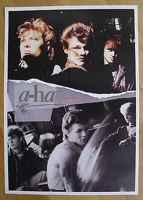 A-HA hunting high and low    vintage poster