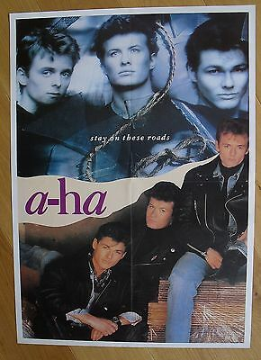 A-HA stay on these roads vintage poster