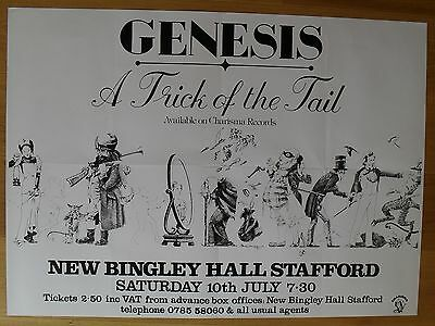 GENESIS vintage repro poster a trick of the tail concert stafford
