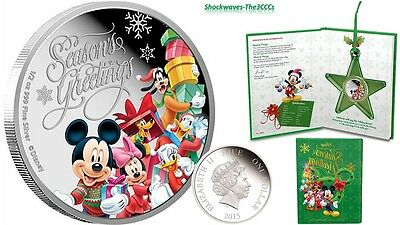 2015 Silver 1/2 oz. Disney Season's Greetings Coin  - SALE 15% OFF