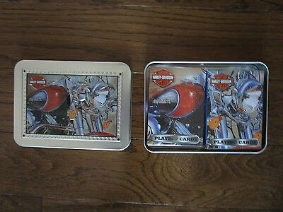 Harley-Davidson Double Deck of Playing Cards in Decorative Tin NEW