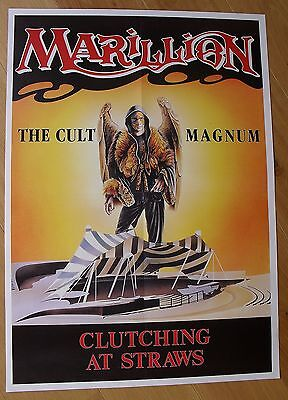MARILLION clutching at straws vintage poster
