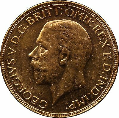 1931 P Gold Sovereign George V Perth mint