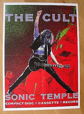 THE CULT sonic temple  vintage poster