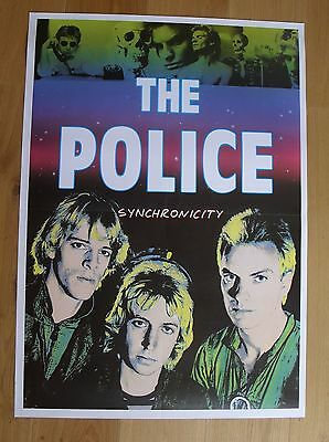 THE POLICE vintage poster  synchronicity