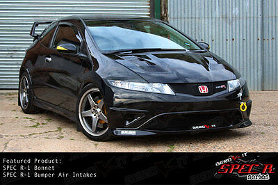 Aerokit R1 vented bonnet type r for Honda Civic 3 + 5-door FN1,2,3,4,FK1,2,3,4