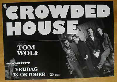 CROWDED HOUSE original concert poster '91