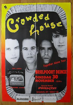 CROWDED HOUSE original concert poster '93
