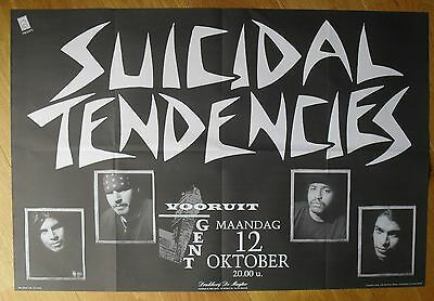 SUICIDAL TENDENCIES original concert poster '92 hardcore trash