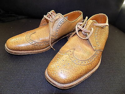 Mens 60s vintage tan leather WEARRA oxford brogues size 7 Mod Scooter