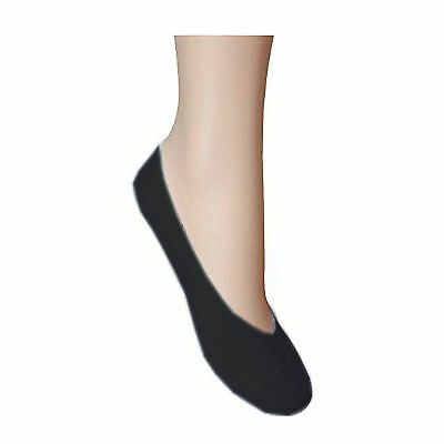 Multipack Ladies Women BLACK Invisible Non Slip Liner Socks Size UK 4-7