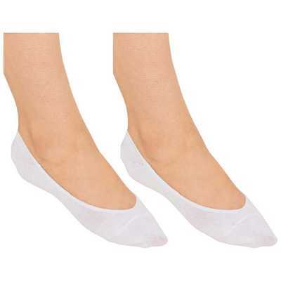 Multipack Ladies Women WHITE Invisible Non Slip Liner Socks Size UK 4-7