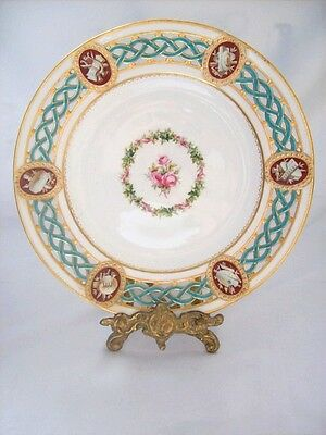 Minton & Co Handpainted Cabinet Plate Year 1863 Date Mark