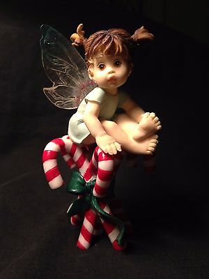 "My Little Kitchen Fairies ""Candy Cane Fairie"" w/Candy Canes 2003 #113347"