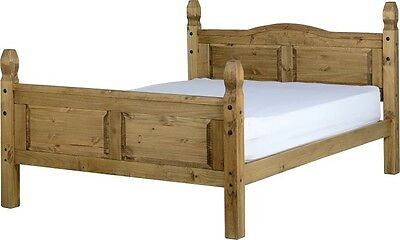 Seconique Corona 5FT Kingsize Waxed Pine High Footend Wooden Bed