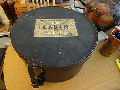Vintage 1940s/ 50s Travel Vanity Case Hat Box Luggage P&O Memorabilia Prop