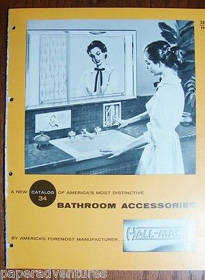 1958 HALL-MACK Residential & Commercial BATHROOM Accessories,Mirrors VT Catalog
