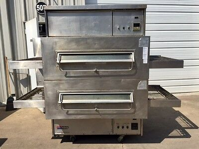 RECONDITIONED Middleby Marshall PS360Q Double-Stack Gas Conveyor Oven