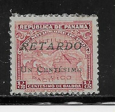 Panama Stamps- Scott # I7/A17-1c on 1/2c-Mint/LH-1921-Late Fee-NG