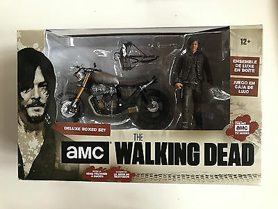 McFarlane ~ DARYL DIXON WITH CUSTOM BIKE ~ Deluxe Set WALKING DEAD AMC