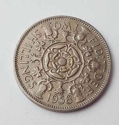 Dated : 1958 - Queen Elizabeth II - One Florin / Two Shillings Coin