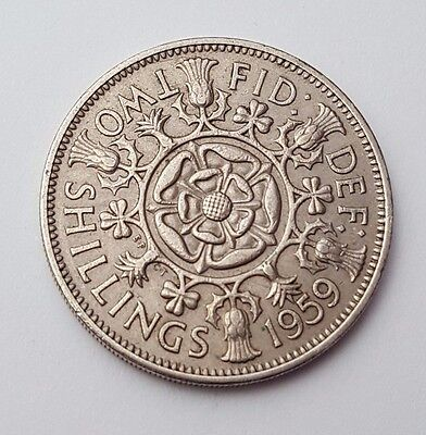 Dated : 1959 - Queen Elizabeth II - One Florin / Two Shillings Coin