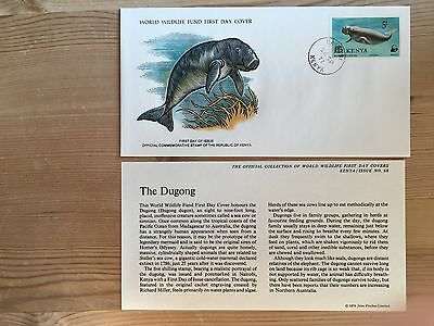 Kenya Wwf Fdc 1977 Dugong Sea Cow Rare Availability Ltd Edition