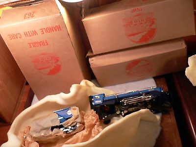 1980s Mth 263e BLUE COMET  w/nickel trim new brown Boxes tinplate o gauge
