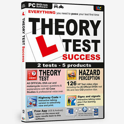 NEW Driving Theory Test dvd All Tests and Hazard Perception 2017 PC DVD CD car